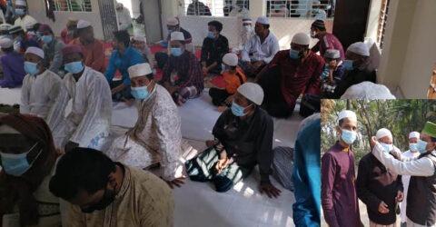কমলনগরে 'স্বপ্নই আলো'র ফ্রি মাস্ক বিতরন